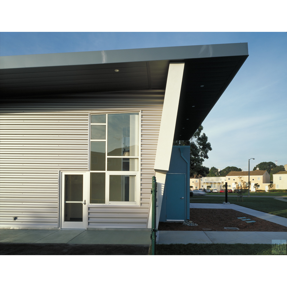 Modern shed roof architecture for Modern metal building